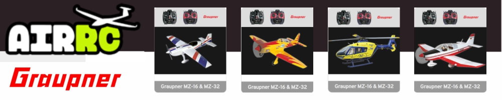 AIRRC provides support for Graupner mz-16 and mz-32 Model Image Widgets